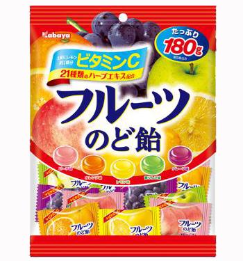 フルーツのど飴(カバヤ)