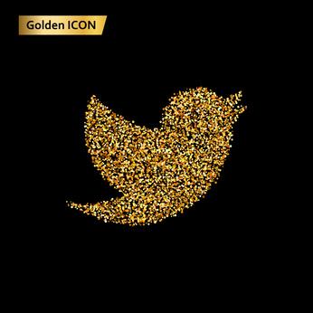 金色のSNSアイコン