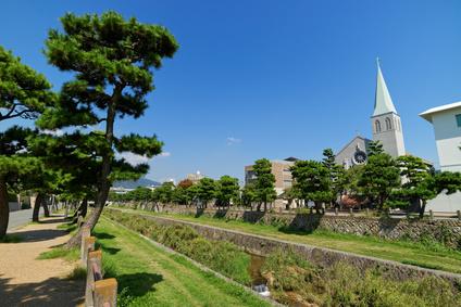 芦屋川とカトリック芦屋教会