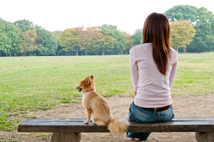 ペットと女性