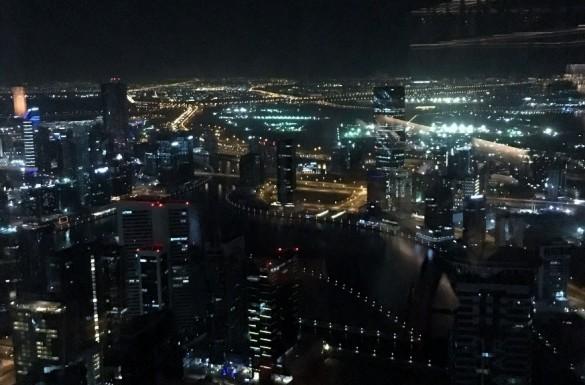 JWマリオット・マーキス・ホテル・ドバイ夜景