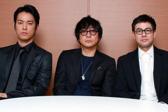 左から、桐谷健太さん、大森南朋さん、鈴木浩介さん