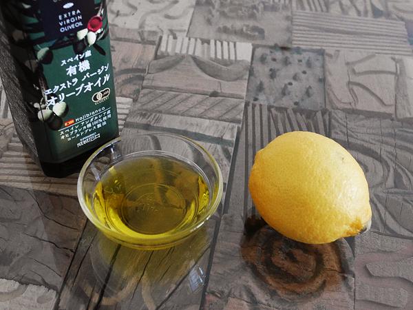 オリーブオイルとレモン