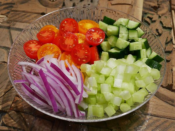 材料の野菜(小口切り・薄切り)