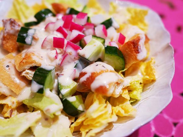 白菜と油揚げのクリーミーサラダ1
