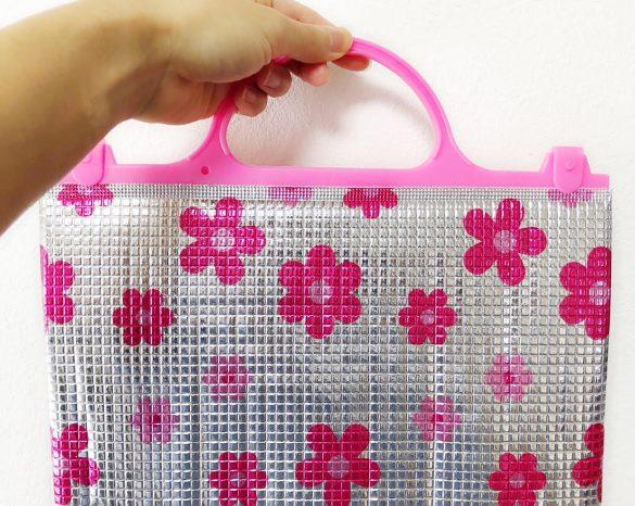 アルミ製のバッグ