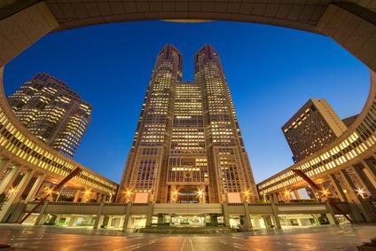 東京都庁舎・夜景