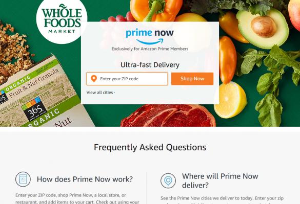 米Amazon「プライムナウ Prime Now」