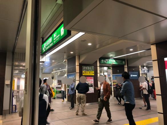 深夜の五反田駅前