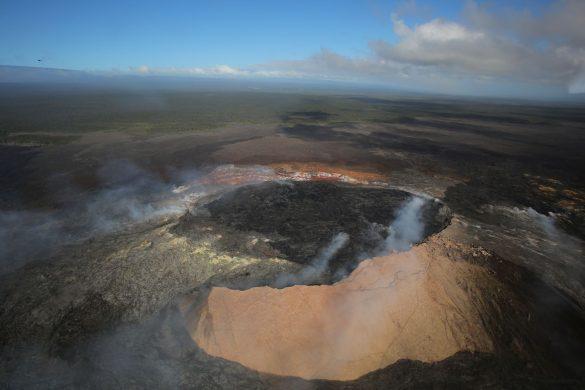 上空から見たキラウエア火山