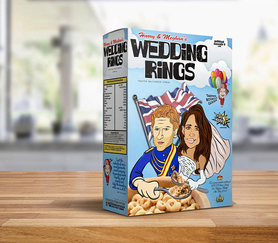 Harry and Meghan's Wedding Rings Commemorative Breakfast Cereal