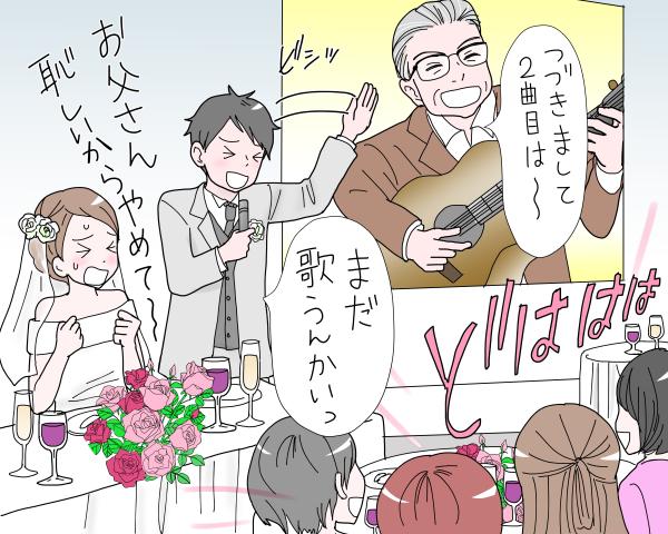 亡き父の余興