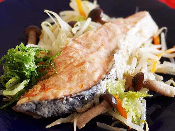 レシピ例「野菜たっぷり魚蒸し」