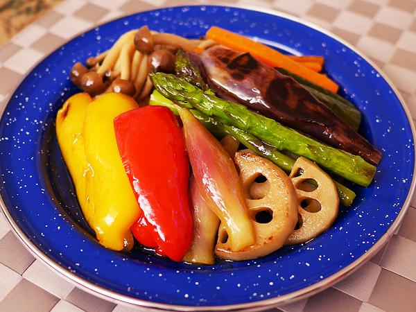 レシピ例「夏野菜の焼きびたし」
