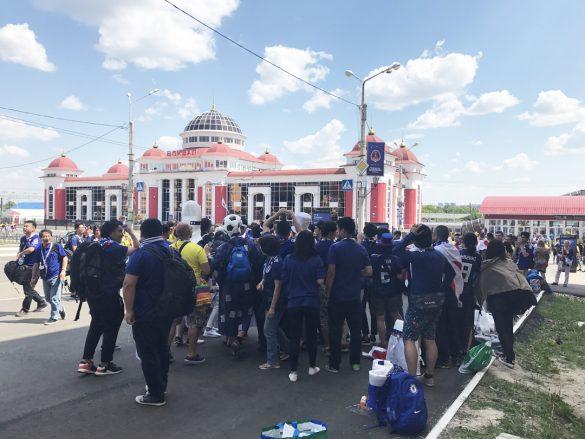 サランスク駅前