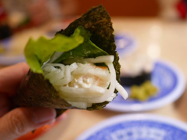 えびマヨ手巻き「シャリ・野菜」
