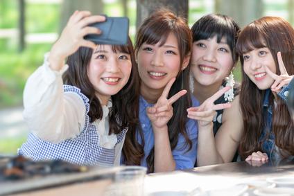 女友達との写真