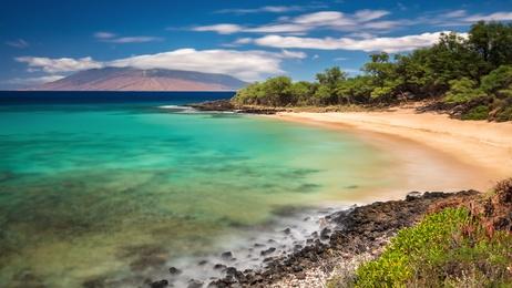 ハワイ、マウイ島、リトルビーチ
