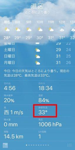 iPhone「天気」アプリ
