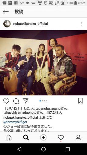 金子ノブアキがトミーフィルヒガーの上海で行われたショー会場で撮った写真に「いいね!」
