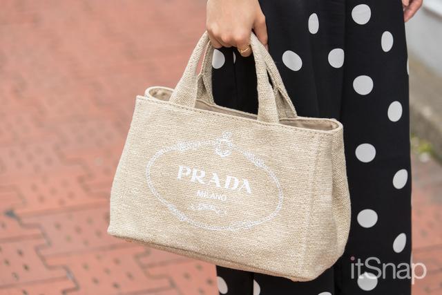 ロゴハンドバッグ/PRADA