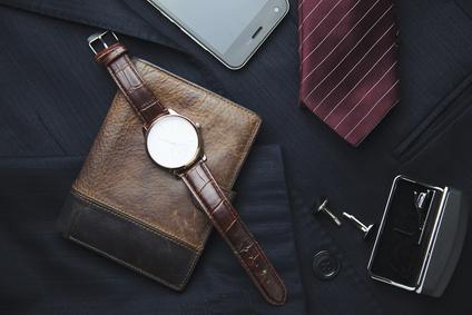 男性用アクセサリー革小物時計ネクタイ