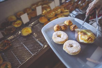 焼きたてパンの風景パン屋