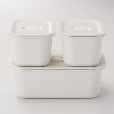 【ポリプロピレン保存容器になるバルブ付弁当箱】290~590円