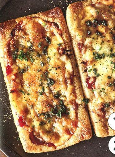 納豆と油揚げのピザ