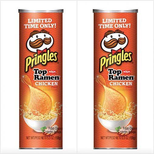 昨年アメリカで発売されたカップ麺味プリングルズ「Pringles Nissin Top Ramen Chicken Flavored」