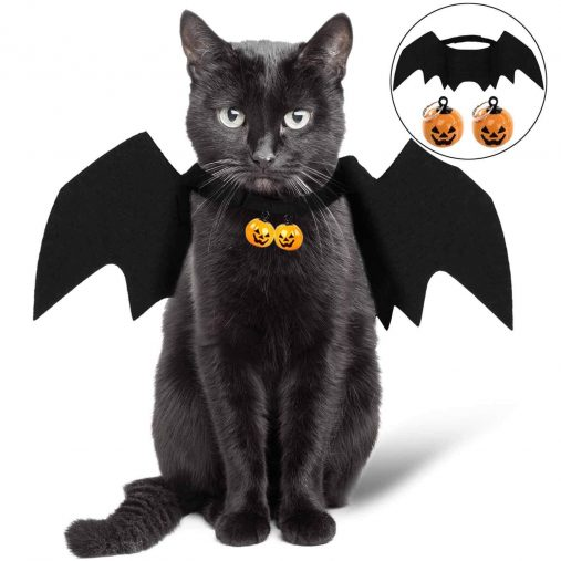 cooyoo Cat Halloween Costume - Cat Bat Wings