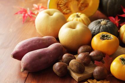 秋の食材 栗さつまいも梨