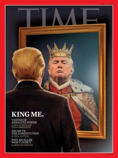 トランプ大統領イラスト表紙の雑誌『Time』 June 18, 2018