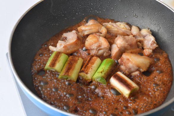 甘辛味の焼き鳥風丼