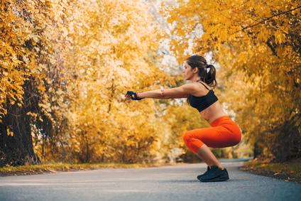 スクワット、筋肉女子、トレーニング