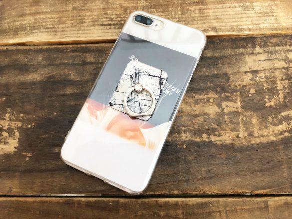iPhoneケース+スマホリング