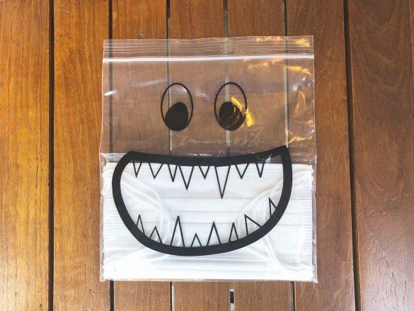 マスク+ジッパーバッグ(フライングタイガー)