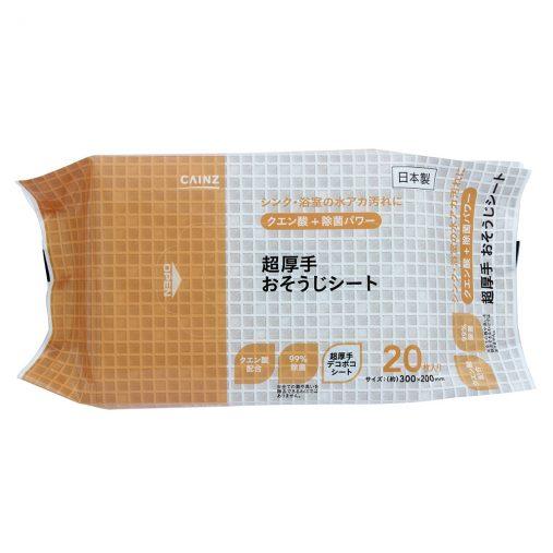 クエン酸除菌 超厚手おそうじシート 20枚 198円(税込)