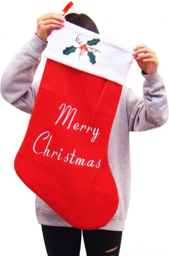 「ZACCARY's フランネル 素材 で 肌触りの良い 特大 67cm × 40cm ワンポイント スノーマーク クリスマスプレゼント用靴下」