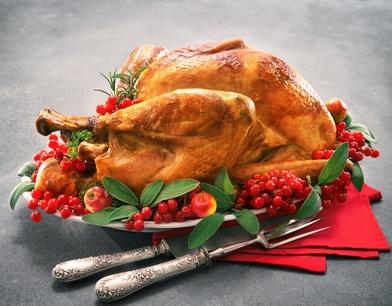 クリスマスや感謝祭のターキー(七面鳥)