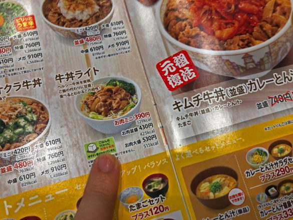 すき家/低糖質メニュー「牛丼ライト」