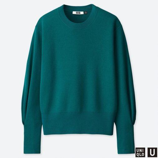 ユニクロU ミラノリブリラックスシルエットクルーネックセーター