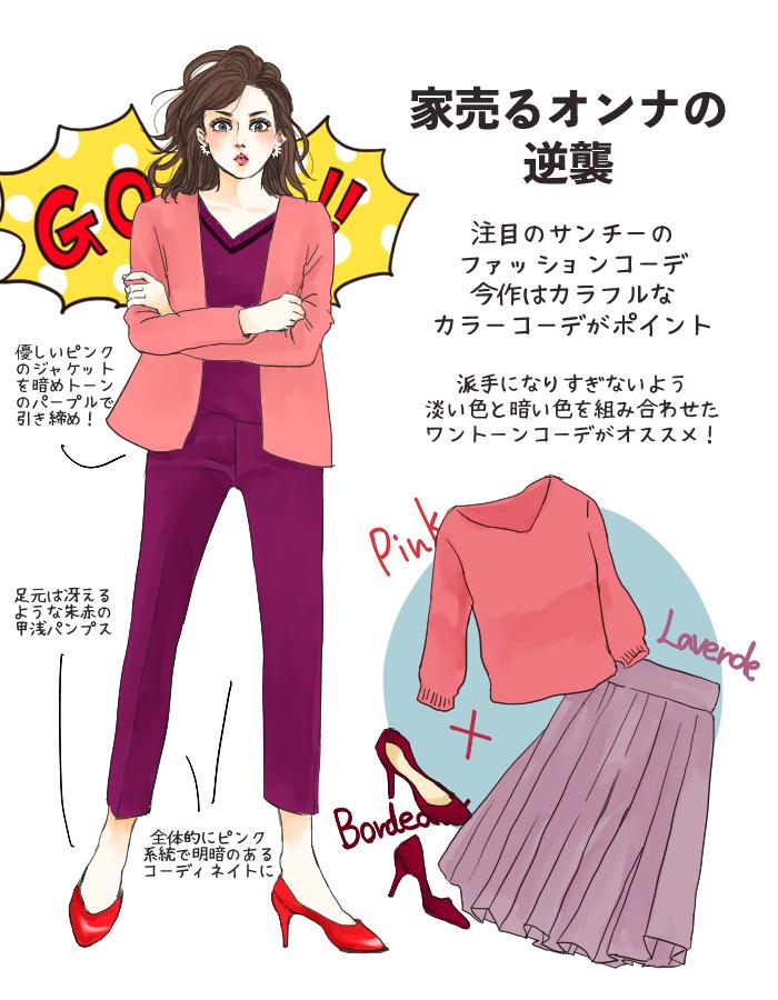 「家売るオンナの逆襲」サンチーファッション1
