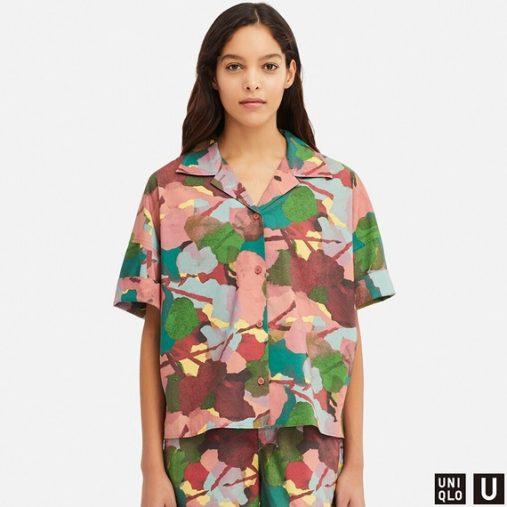 ユニクロU オープンカラーシャツ(5分袖)