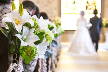 結婚式の客