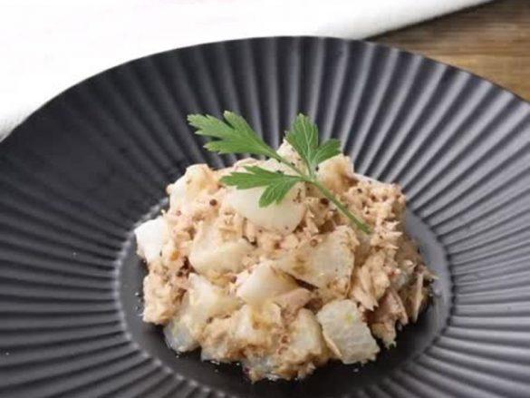 ツナと大根のマスタードマヨ炒め