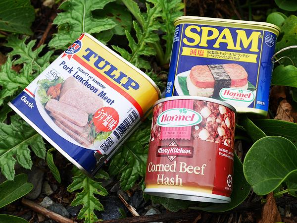沖縄ミート缶詰(SPAM、TULIP、コンビーフハッシュ)