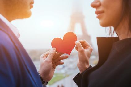 カップル バレンタイン ロマンティック ハート