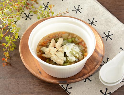 「NL 鶏ささみと6種野菜のもち麦スープ」