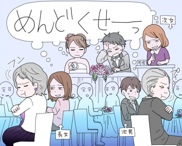 離婚した両親が結婚式で